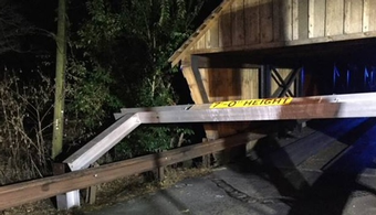Historic GA Bridge Nearly Struck Again