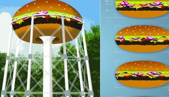 NY Water Tower to Receive Delicious Redesign