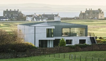 Scotland House Uses Range of Material, Spatial Style