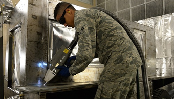 AFB Tests Lasers for Surface Prep
