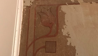 Century-Old Artwork Found Behind Paint, Wallpaper