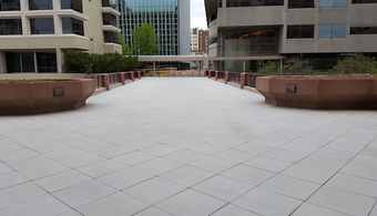 Waterproofing Underlies Plaza Snow-Melt System