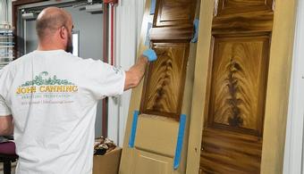Art of Graining Used to Restore Doors