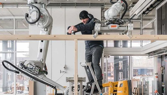 Robots Learn to Build Prefab Timber Modules