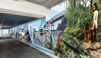 DPRA, Muralists Team Up to Beautify Underpass