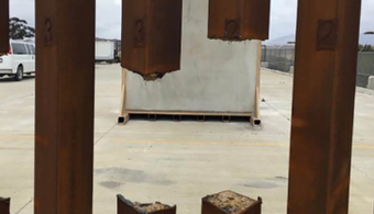 Border Wall Prototypes Damaged with Tools