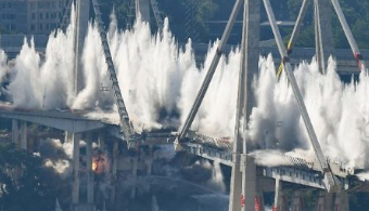 Italy's Morandi Bridge Towers Demolished