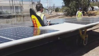 Solar-Powered Train Sets Speed Record